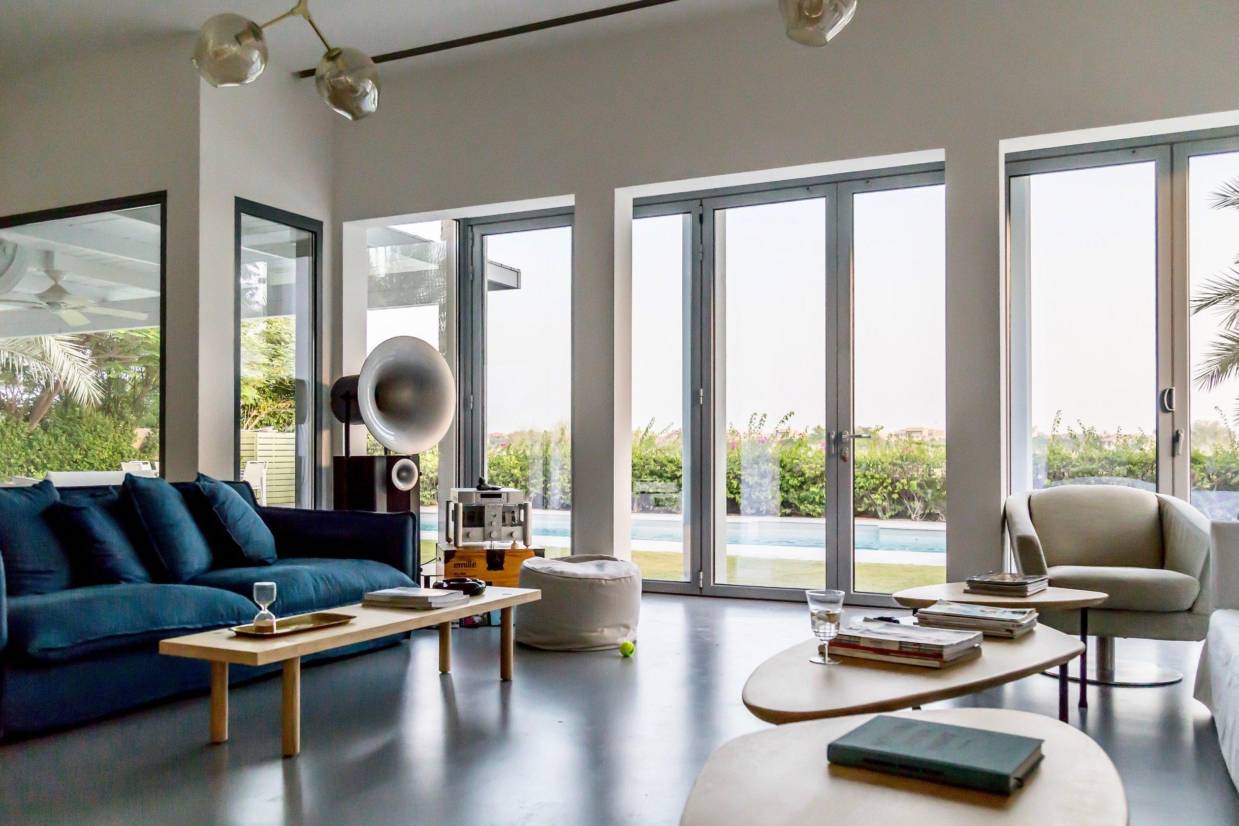 living room doors & windows